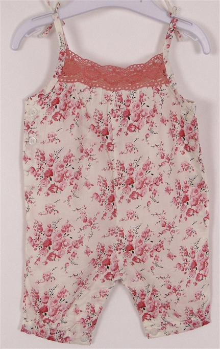 Sukienki Spodenki Romper Vintage W Kwiatki 56cm F F Odzież Dziecięca Bobasom
