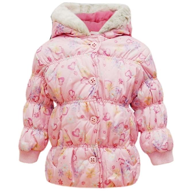 kurtki Kurtka na zime dla dziewczynki Sugar Pink Odzież