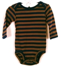 Body dlugi rekaw granat-braz Carter's STRIPES